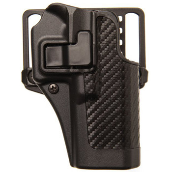 BLACKHAWK! CQC SERPA Holster With Belt and Paddle Attachment, Fits Beretta 92/96 (not Elite/Brigadier), Right Hand, Carbon Fiber, Black 410004BK-R, UPC :648018003974