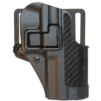 BLACKHAWK! CQC SERPA Holster With Belt and Paddle Attachment, Fits Colt Commander, Right Hand, Carbon Fiber, Black 410042BK-R, UPC :648018127304