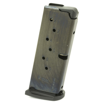 Ruger Magazine, 9MM, 7Rd, Blue, with Finger Rest, Fits Ruger LC9 and EC9s 90363, UPC :736676903634