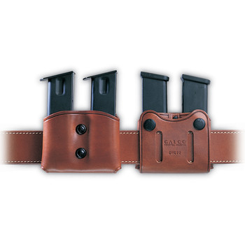Galco DMC Pouch, Fits Double Stack Magazines 9MM/40S&W, Ambidextrous, Tan Leather DMC22, UPC :601299037014