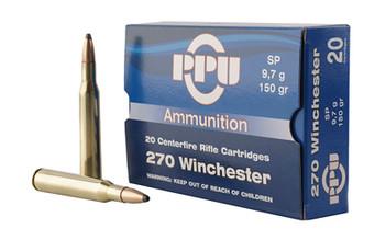 Prvi Partizan Rifle, 270 Win, 150 Grain, Soft Point, 20 Round Box PP2702, UPC :8605003812364