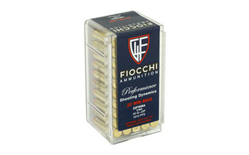 Fiocchi Ammunition Rimfire, 22WMR, 40 Grain, Jacketed Soft Point, 50 Round Box 22FWMA, UPC :762344710044