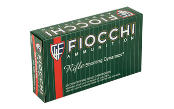 Fiocchi Ammunition Rifle, 308Win, 180 Grain, Pointed Soft Point, 20 Round Box 308C, UPC :762344710174