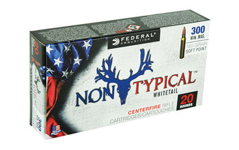 Federal Non Typical, 300 Win, 180Gr, Soft Point, 20 Round Box 300WDT180, UPC :604544627084