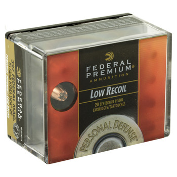 Federal Premium Personal Defense (LR), 32785 Grain, Hydra-Shok Jacketed Hollow Point, Low Recoil, 20 Round Box/Box PD327HS1H, UPC : 029465099404