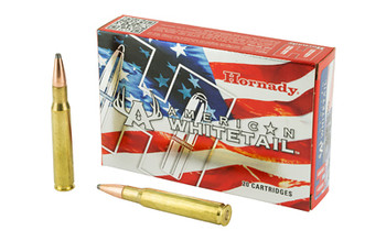 Hornady American Whitetail, 30-06, 180 Grain, InterLock, 20 Round Box 81084, UPC : 090255810844