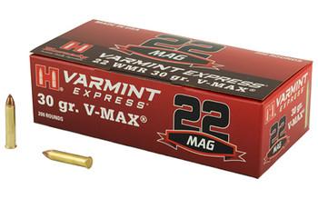 Hornady Varmint Express, 22WMR, 30Gr, V-Max, 200 Rounds 832022, UPC : 090255712254