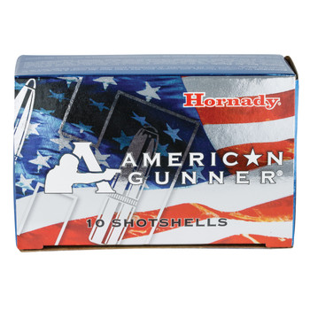 "Hornady American Gunner, 12Ga 2.75"", 00 Buckshot, Low Recoil, 10 Round Box 86274, UPC : 090255862744"