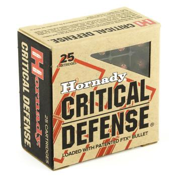 Hornady Critical Defense, 380ACP, 90 Grain, Hollow Point, 25 Round Boxund Box 90080, UPC : 090255900804