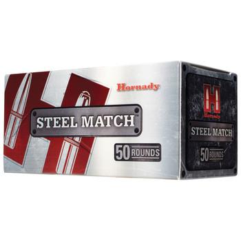 Hornady Steel Match, 9MM, 125 Grain, HAP, 50 Round Box 90275, UPC : 090255902754