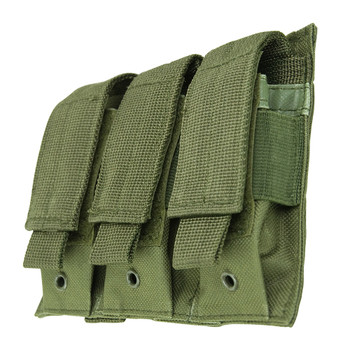 NCSTAR Triple Pistol Magazine Pouch, Nylon, Green, MOLLE Straps for Attachment, Fits Three Standard Capacity Double Stack Magazines CVP3P2932G, UPC :814108017224