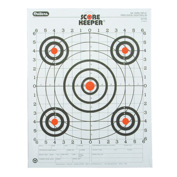 SK 100YD RFL SGT-IN OR/BLK BULL TGT 12PK UPC: 076683457264