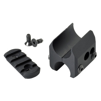 Mesa Tactical Magazine Clamp, Fits Remington 12 Gauge, with Rail, Black Finish 90810, UPC :878405000754