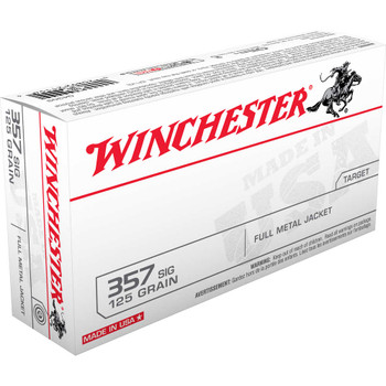 Winchester Ammunition USA, 357SIG, 125 Grain, Full Metal Jacket, 50 Round Box Q4309, UPC : 020892211544