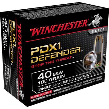 Winchester Ammunition Supreme Elite, 40SW, 180 Grain, PDX1, 20 Round Box S40SWPDB1, UPC : 020892217874