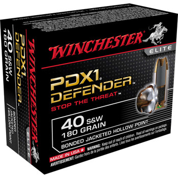 Winchester Ammunition Supreme Elite, 40S&W, 180 Grain, PDX1, 20 Round Box S40SWPDB1, UPC : 020892217874
