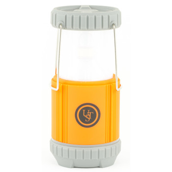 UST - Ultimate Survival Technologies Ready-LED Lantern, Bright 250 Lumens, Turns On When Opened, Off When Closed, 4AA Batteries (Not Included), Orange 20-02196, UPC :815608021964