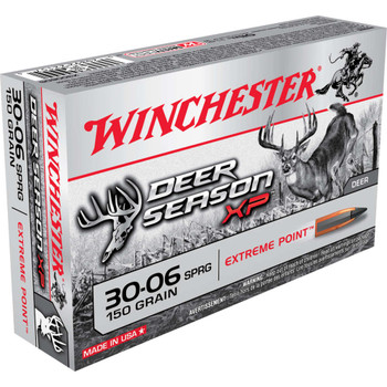 Winchester Ammunition Deer Season, 30-06, 150 Grain, Extreme Point Polymer Tip, 20 Round Box X3006DS, UPC : 020892221574