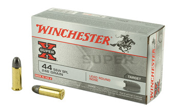 Winchester Ammunition Super-X, 44 Special, 246 Grain, Lead Round Nose, 50 Round Box X44SP, UPC : 020892201514