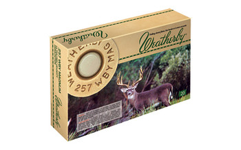 Weatherby Select Ammunition, 257 Weatherby, 100 Grain, Norma Spitzer, 20 Round Box G257100SR, UPC :747115419364