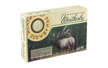 Weatherby Ammunition,300 Weatherby, 165 Grain, Spire Point, 20 Round Box H300165SP, UPC :747115010424