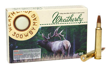 Weatherby Select Plus Ammunition, 300 Weatherby, 180 Grain, Nosler AccuBond, 20 Round Box N300180ACB, UPC :747115416264