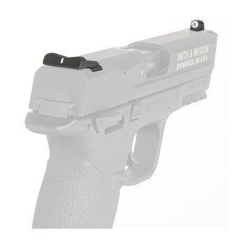 XS Sights DXW Big Dot Tritium Front, White Stripe Express Rear, Fits SW Shield, Green with White Outline, installation kit included SW-0024S-3, UPC :647533041874