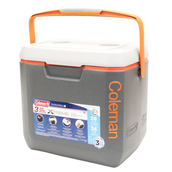 Coleman 28 Qrt Xtreme Drk Gry/Orng/Lt Gry Cooler 3000002008, UPC : 076501380774
