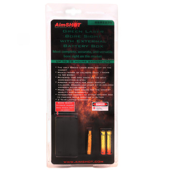 AimSHOT BSB223G Green Laser Bore Sight .223 w/ Battery Box, UPC :669256022374