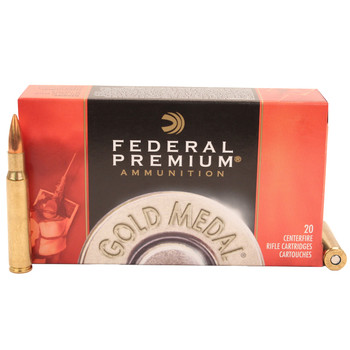 Federal Premium Gold Medal Ammunition 30-06 Springfield 168 Grain Sierra MatchKing Hollow Point Boat Tail Box of 20, UPC : 029465089344