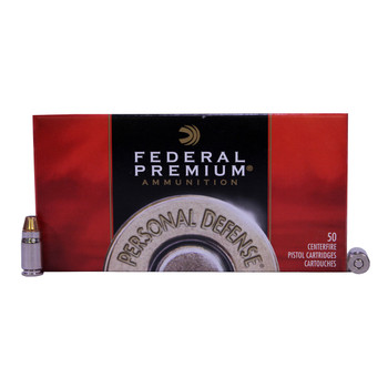 Federal Premium Personal Defense Ammunition 357 Sig 125 Grain Jacketed Hollow Point Box of 50, UPC : 029465089894