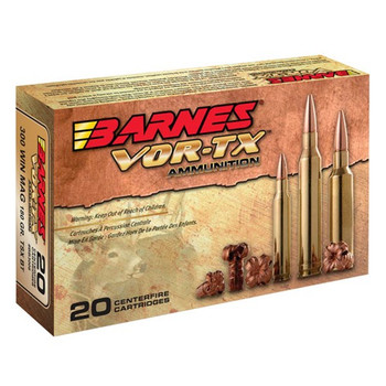 Barnes VOR-TX Ammunition 270 Winchester Short Magnum (WSM) 140 Grain TSX Hollow Point Boat Tail Lead-Free Box of 20, UPC :716876127054