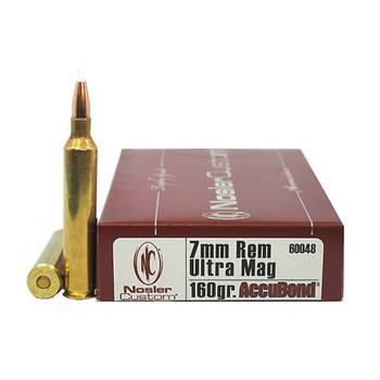 Nosler Trophy Grade Ammunition 7mm Remington Ultra Magnum 160 Grain AccuBond Box of 20, UPC : 054041600484