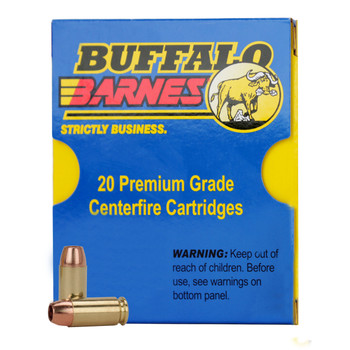 Buffalo Bore Ammunition 357 Magnum 140 Grain Barnes TAC-XP Hollow Point Lead-Free Box of 20, UPC :651815019314