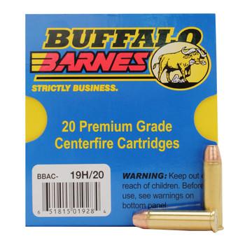 Buffalo Bore Ammunition 357 Magnum Short Barrel 125 Grain Barnes TAC-XP Hollow Point Low Flash Lead-Free Box of 20, UPC :651815019284