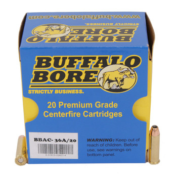Buffalo Bore Ammunition 32 H&R Magnum +P 100 Grain Jacketed Hollow Point Box of 20, UPC :651815036014