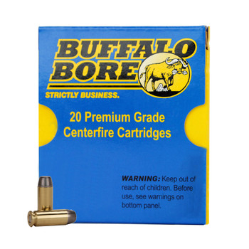 Buffalo Bore Ammunition Outdoorsman 10mm Auto 220 Grain Hard Cast Lead Flat Nose Box of 20, UPC :651815021034
