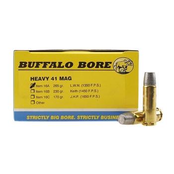 Buffalo Bore Ammunition Outdoorsman 41 Remington Magnum 265 Grain Lead Wide Flat Nose Box of 20, UPC :651815016214