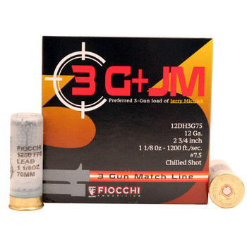 CASE OF 10 3-GUN MATCH 12GA 2.75IN 1-1/8 OZ. 25/BX, UPC :762344711454