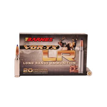 Barnes VOR-TX Long Range Ammunition 6.5 Creedmoor 127 Grain LRX Polymer Tipped Boat Tail Lead-Free Box of 20, UPC :716876165124