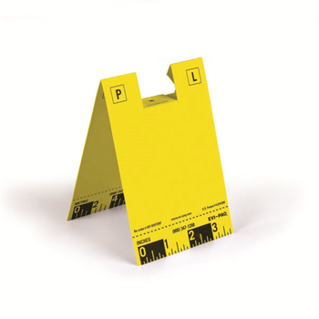 Disposable ID Tents, Yellow, Pack of 100, UPC :844272418534