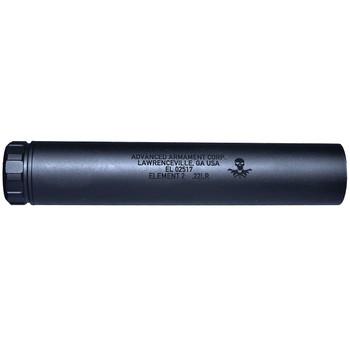 Advanced Armament Corp Element 2, 22LR, 1/2x28, Rimfire Suppressor, Black 64056, UPC :847128007937