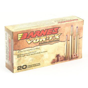 Barnes VOR-TX, 308 Win, 130Gr, Tipped Triple Shock X, Boat Tail, 20 Round Box 30816, UPC :716876151097