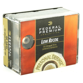 Federal Premium Personal Defense (LR), 40 S&W, 135 Grain,Hydra-Shok Jacketed Hollow Point, Low Recoil, 20 Round Box PD40HS4H, UPC : 029465091507