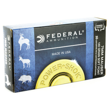 Federal PowerShok, 7x57, 140 Grain, Soft Point, 20 Round Box 7B, UPC : 029465084417