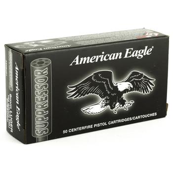 Federal American Eagle, 9MM, 124 Grain, Full Metal Jacket, 50 Round Box AE9SUP1, UPC : 029465064037