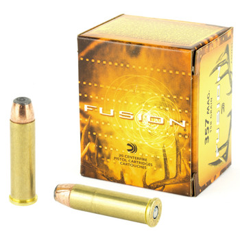 Federal Fusion, 357MAG, 158 Grain, Hollow Point, 20 Round Box F357FS1, UPC : 029465098377