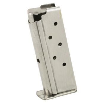 Beretta Magazine, 380ACP, 6Rd, Stainless Finish, Fits Beretta Pico JMPP3161, UPC : 082442746807