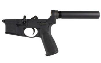 Bravo Company BCM, Pistol Lower Group with Receiver, 556NATO, Aluminum Frame, Black Finish, BCMGUNFIGHTER Pistol Grip LRG-PISTOL, UPC :812526020277
