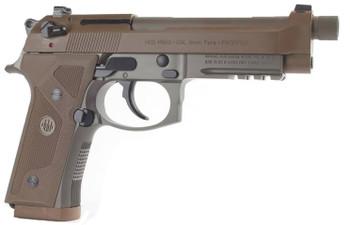 """Beretta M9A3, Semi-automatic, Full, 9MM, 4.9"""", Alloy, Flat Dark Earth, 10Rd, 3 Mags, Ambidextrous, Tritium Night Sights J92M9A3, UPC : 082442893297"""